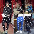 Man Dance Hip Hop Star Printing Pants Loose Joggy Haram Sweater Trousers Slack