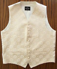 Mens waistcoat tuxedo vest Cotton mix GOLD 38 40 42 44 46 48 S M L XL 2XL 3XL