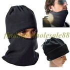 4 in 1 SNOOD Fleece New Mens Scarf BLACK Hood Balaclava Neck Winter Face Mask