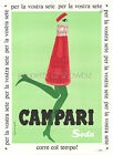 Vintage Rare Campari Soda ad print poster, large 4 sizes available