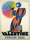 Vintage Valentine French print poster, large 4 sizes available