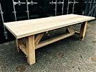 HUGE RUSTIC GARDEN TABLE IN GREEN OAK MADE IN BEAUTIFUL ENGLISH OAK