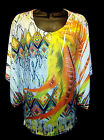 Snakeskin Southwestern Print & Feathers Yellow Orange Lime Lace Back- Plus Sizes