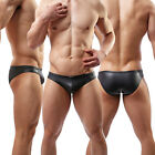 Fashion Hot Sexy Men's Briefs Underwear Faux Leather Boxer Shorts Underpants#C34