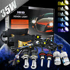 35W HID Xenon Bi-xenon Conversion Kit Slim Digital Ballast Headlight Bulbs lamps