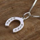 925 Sterling Silver Necklace Dainty Horseshoe Pendant Gift For lady or Children