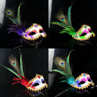 Perfect for Fancy Dress Peacock Feather Masquerade Mardi Gras Mask 6 Color