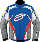 Arctiva Comp 7 Mens Blue Red Insulated Snowmobile Jacket Snow Mobile