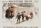 Mid Winter Truth Vintage Newspaper ad print poster, large 4 sizes available