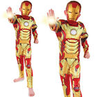 Boy's Deluxe Iron Man 3 Padded Chest Avengers Fancy Dress Costume Child Outfit
