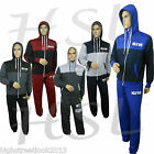 New Mens Printed jogging suit Tracksuit Hooded Bottoms Top Fleece Pants S M L XL