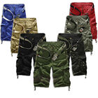 Fashion Men Casual Army Cargo Combat Camo Camouflage Overall Short Sports Pants