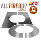 """Convesa 5"""" Or 6"""" Finishing Plates For Twin Wall Insulated Flue Pipe Silver"""