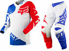 NEW 2015 FOX RACING 180 RACE AIRLINE VENTED MX GEAR COMBO WHITE ALL SIZES