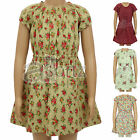 Girls ex Mini Boden Floral Print Cotton Summer Dress New Childrens