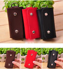 Portable 6 Keychains Man-made Leather Key Package