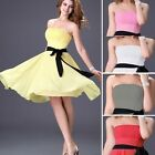 UK FAST CHEAP FREE SHIP~ Strapless Dresses Prom Formal Party Short Evening Dress