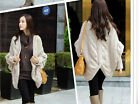 M378 fashion ladies loose batwing knit PULLOVER Cardigan Tops Sweater 5 colors