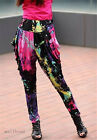 New Women Casual Loose Baggy Crotch Collapse hip Hop Haram Pant Floral Trousers