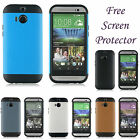 HYBRID MESH COMBO TOUGH ARMOR GEL CASE COVER SKIN FOR HTC ONE M8 (2014) + SP
