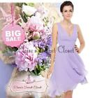 BNWT Gorgeous MIA Lilac Chiffon Bridesmaid Evening Wedding Races Dress UK 6 - 18