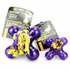 STARMARK JACK STRONG TOUGH DOG PUPPY ROPE RUBBER CHEW TOY TREAT HOLDING 3 SIZES