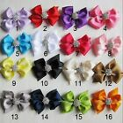 Baby Girls Ribbon Bow Hair Clips with Diamante Centre Hair Accessories - quality