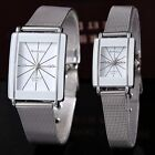 Fashion Couple Pair Women's Men's Watch Quartz Steel Mesh Belt Wrist Watch New