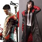 Devil May Cry DMC Pleather Coat Jacket Dante Game Costume Cosplay (XS-4XL)