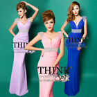 Sexy Formal Evening Gown Prom Bridesmaid Long Cocktail Party Sleeveless Dresses