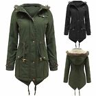 NEW WOMENS OVERSIZED FUR HOOD PLUS SIZE PARKA LADIES JACKET COAT FISHTAIL LOOK