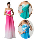 Ombre Strapless Sweetheart Bridesmaid Cocktail Prom Party Long Dress AU 6~20 aYH