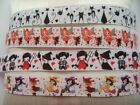 "22mm 7/8"" Cartoon Halloween Witch Printed Craft Scrapbooking Grosgrain Ribbons"