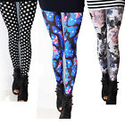 2014  New Stylish Punk Sexy Stretchy Leggings Tight Pencil Skinny Pants UK DS