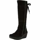 Womens Fly London Yust Mid Calf Extra Wide Fitting Winter Boot Low Heel Black