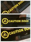 3  x CAUTION DOGS TRIANGLES-DOG HANDLER VEHICLE GRAPHICS DECALS