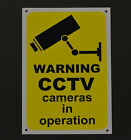 Warning CCTV Cameras In Operation Security Sign - Sticker & Plastic Survelliance