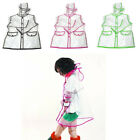 Childrens Clear Vinyl Raincoat Transparent Pvc Kids Festival Mac Rain Coat Child
