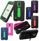 For SAMSUNG GALAXY S5 PRIME G906 Cover Kickstand Double Layer Accessory Case