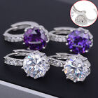 New Women's 925 Sterling Silver Clear Crystal Zircon Cz Charm Ear Stud Earrings