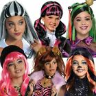 Girl's Official Child Monster High Wigs Halloween Fancy Dress Accessory