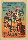 Vintage French Concert Ad print poster, large 4 sizes available