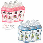 New Tommee Tippee Closer To Nature Baby Feeding Bottles BPA Free Pink or Blue