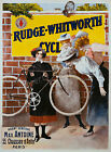 Vintage Rudge-Whitworth Bicycles print poster, large 4 sizes available