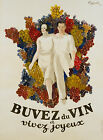 Vintage Buvez De Vin print poster, large 4 sizes available