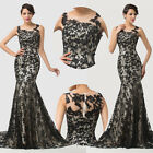 2014 Long Mermaid Party Formal Evening Ball Prom Cocktail Dress Wedding Gowns HS