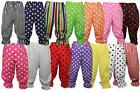 Fancy Dress Polka Dot Frilly Pants Rag Doll Clown Panto Dame Bloomers