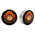 BUDDHA PAIR Logo Ear Plugs Jewelry Stash Hide Earlets