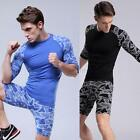 New Mens Compression Base Under Layer Top Skin Tight Short Sleeve Sport T-Shirts