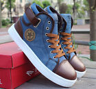 New Men's fashion England Style High-top Shoes Casual Cowboy Board Shoe T171